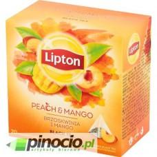 Herbata czarna w piramidkach Lipton Peach Mango 20 szt.