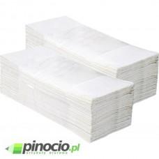 Ręcznik papierowy jednowarstwowy w składce ZZ Merida Economy biały PZ26