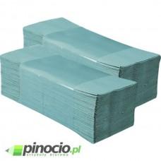 Ręcznik papierowy jednowarstwowy w składce ZZ Merida Economy zielony PZ80