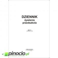 Dziennik żywieniowy przedszkola A4 men-v/1