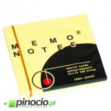 Notes samoprzylepny Dalpo 76x76mm żółty 100 szt.