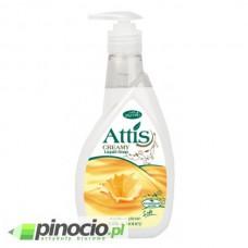 Mydło w płynie z dozownikiem Attis Gold Drop 400ml. Milk & Honey