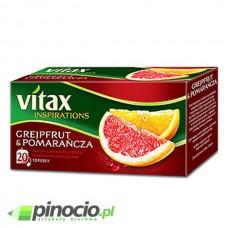 Herbata owocowa Vitax Inspirations Grejpfrut & Pomarańcza 20 szt.