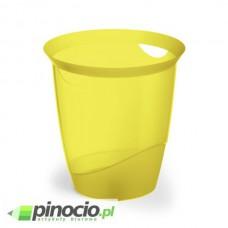 Kosz na śmieci Durable Trend 16l. przezroczysty żółty