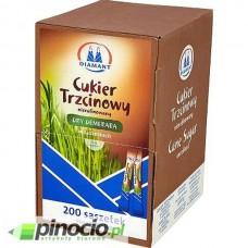 Cukier trzcinowy brązowy w saszetkach 200 szt.