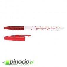 Długopis w gwiazdki Toma Superfine TO-059 czerwony