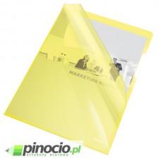 Ofertówki krystaliczne Esselte A4 sztywne żółte 25 szt. 55431