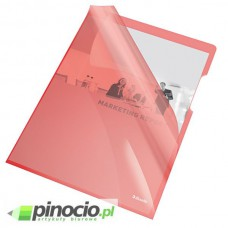 Ofertówki krystaliczne Esselte A4 sztywne czerwone 25 szt.55433