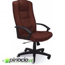 Fotel gabinetowy Nowy Styl Laguna skórzany brązowy
