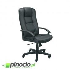 Fotel gabinetowy Nowy Styl Laguna skórzany czarny