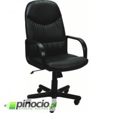 Fotel gabinetowy Nowy Styl Model 8000 skaj czarny