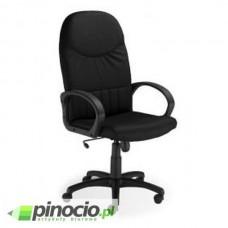 Fotel gabinetowy Nowy Styl Model 8000 welurowy czarny