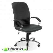 Fotel gabinetowy Nowy Styl Mirage Steel skórzany czarny