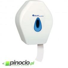 Pojemnik na papier toaletowy MERIDA TOP MINI, okienko NIEBIESKIE PT2TN
