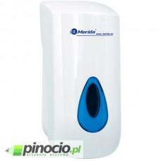 Dozownik mydła w płynie MERIDA TOP z tworz. ABS o poj. 800 ml, okienko NIEBIESKIE DN1TN
