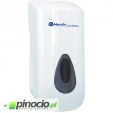 Dozownik mydła w płynie MERIDA TOP z tworz. ABS o poj. 800 ml, okienko SZARE DN1TS