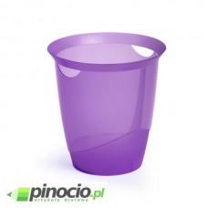 Kosz na śmieci Durable Trend 16l. przezroczysty fioletowy