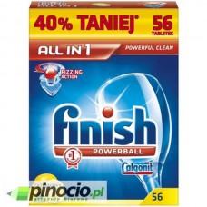 Tabletki do zmywarek Finish Powerball All In One Lemon 56 szt.