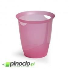 Kosz na śmieci Durable Trend 16l. przezroczysty różowy