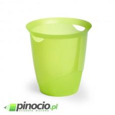 Kosz na śmieci Durable Trend 16l. przezroczysty zielony