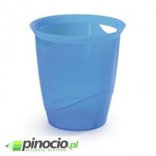 Kosz na śmieci Durable Trend 16l. przezroczysty niebieski
