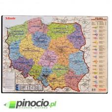 Podkład na biurko Esselte - Mapa Polski 65x50 cm 12051