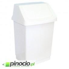 Kosz na śmieci Merida z uchylną pokrywą 50l biały B8D