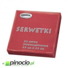 Serwetki stołowe Grosik 33x33cm czerwone 50 szt