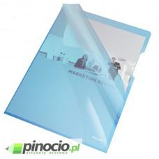 Ofertówki krystaliczne Esselte A4 sztywne niebieskie 25 szt. 55435