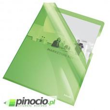 Ofertówki krystaliczne Esselte A4 sztywne zielone 25 szt. 55436